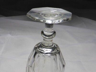 Monogramm Kelchglas geschliffen graviert wohl Böhmen um 1900 (Nr. 1123) 7