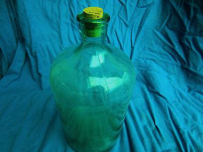 alte antike Apothekerflasche, seltene Waldglas Bonbonne,  Grünglas, ca. 19 JH