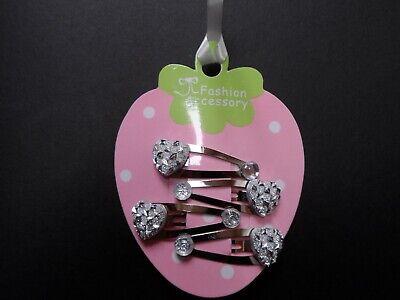mini hair clips hair slides snap clips sparkle gem hearts baby hair accessory 2