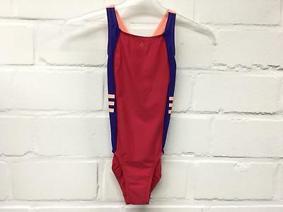 Adidas costume piscina intero bimba-ragazza infinitex BS0228 fucsia-viola-pesca 2
