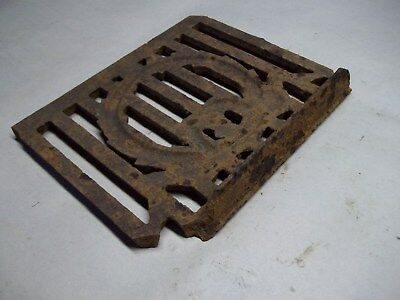 Broken part of antique furnace or stove vent or grate ? with design 10