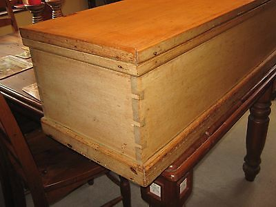 LOVELY VICTORIAN BEECH,OR BLEACHED MAHOGANY BLANKET/TOY BOX/CHEST 130 cm 12