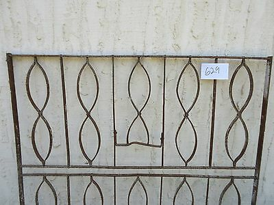 Antique Victorian Iron Gate Window Garden Fence Architectural Salvage Door #629 4