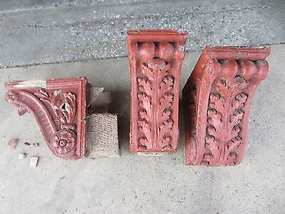 ~ Great Set Of Antique Stone Corbels ~ Architectural Salvage ~ 5
