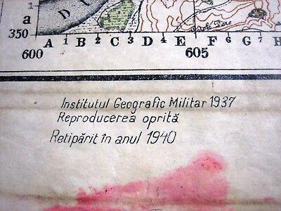 1937 Giurgiu Romania Institutul Geografic Militar Original Vintage Map 7