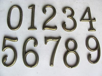 ONE Antique Vintage Solid Brass House Number Make Your Own Set - Many Available! 2