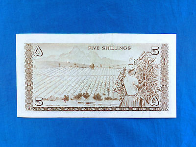 Rare 1967 Kenya 5 Shillings Banknote *P-1b*       *XF-AU*