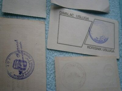 YUGOSLAVIA SERBIA LOT COUPON VOUCHER FOOD subscrip DOCUMENT 1990 GAS PETROL FUEL 3