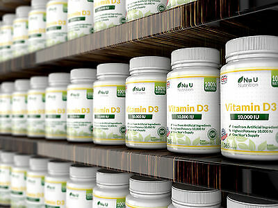 Vitamin D3 10000iu High Strength 365 Soft Gel capsules Vitamin D 10,000iu Vit d 2