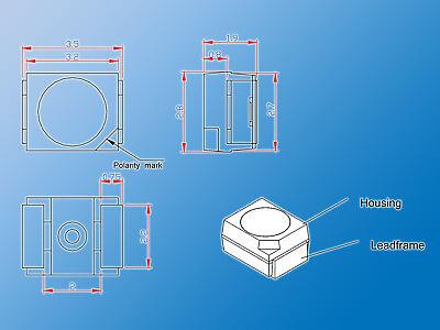 150x SMD LED MIX | Warm Weiß/Weiß gemischt | PLCC-2 | 3528 | verschiedene Typen 7