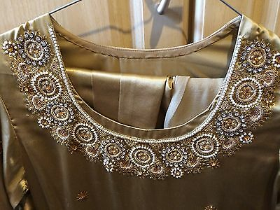 Ladies Shalwar Kameez - Gold - Size Small 5