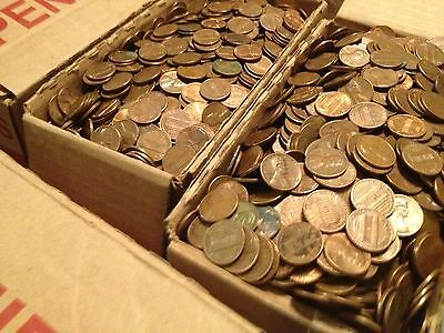Completely Unsearched Sealed Bank Bag ($50 FV) US Copper Pennies Pre 1982 34 LBS 5