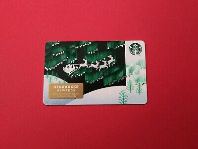 "Starbucks gift card 2019 ""SANTA'S SLEIGH RIDE"" No Value. Beauty. New 3"