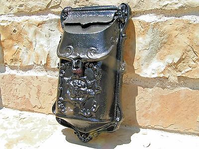 Cast Iron Reproduction mailbox suggestion box Black Victorian style 4