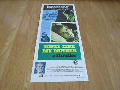 YOU'LL LIKE MY MOTHER ORIGINAL 1972 CINEMA DAYBILL FILM POSTER Patty Duke HORROR 6