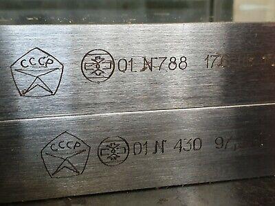Rockwell hardness measuring Blocks (200±50) HB 10/3000/10  USSR Top Grade! 2pcs 2
