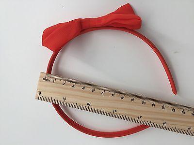 Women Girl School Red Chiffon lace Bow Snow white Party Xmas Hair band Headband