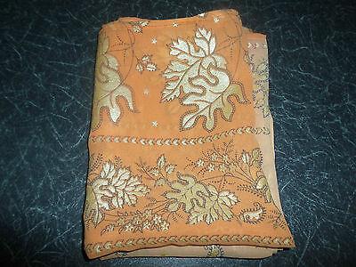 1 NEW Colourful Mixed Fibre Pretty Ladies Scarf Orange+Peach+Gold Gift Idea #80 5