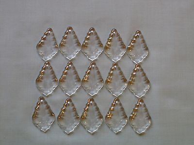 15 small lovely glass  pendaloques chandelier drops (D267) 3