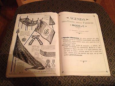 Unione Delle Fabbriche (Primavere Estate 1904) Napoli..Agenda Almanacco (Rare) 7