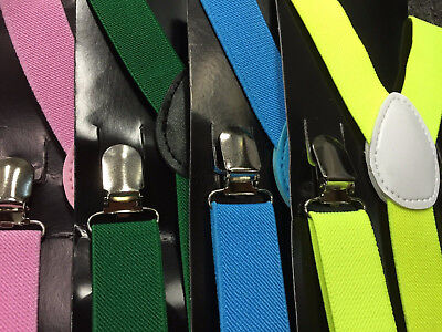 Mens Womens Suspenders Braces Elastic Adjustable Formal Wedding Unisex Trouser 3