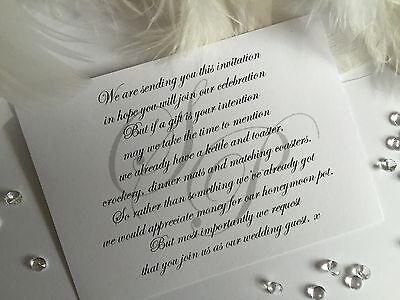 Gift Poem Cards Gift Wish For Wedding Money Honeymoon Poem