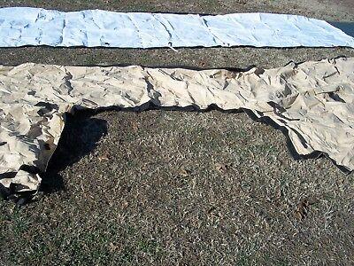 MILITARY SURPLUS DRASH Tent Door Boot End Cap To End Cap Tan Connection Us  Army