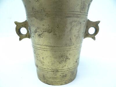 Antik Chinesisch Mörser & Stößel Messing Metall Stempel 9 China Apotheker Masher