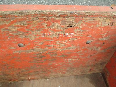 orange WOOD wheelbarrow  HORTICULTURIST original  VINTAGE - 1900's  WHEEL BARROW 9