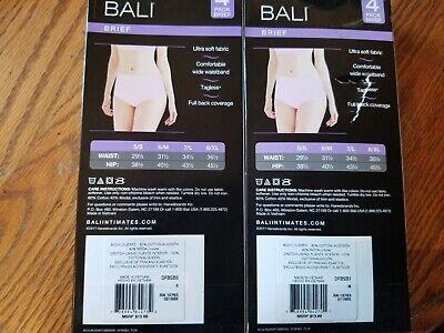 NIB Women/'s BALI Multi-Colored Softest Panty Brief Tagless Underwear Sz S M L XL