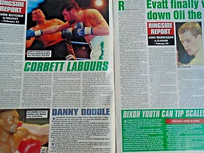 BOXING NEWS - 27 feb 1998 - eubank, mcdonnell, holyfield, lewis free p&p to uk 5