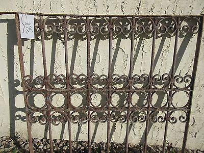 Antique Victorian Iron Gate Window Garden Fence Architectural Salvage Door #368 3