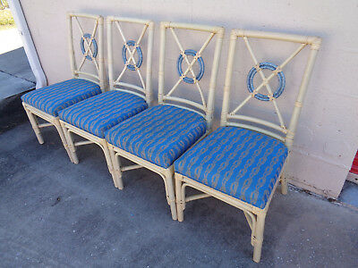 Super Vintage Set Of 4 Mcguire Style Target Back Dining Chairs Dailytribune Chair Design For Home Dailytribuneorg