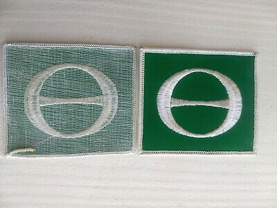 VINTAGE 1970's ECOLOGY E FLAG PATCH HIPPIE PROTEST ENVIRONMENTAL GLOBAL WARMING 2