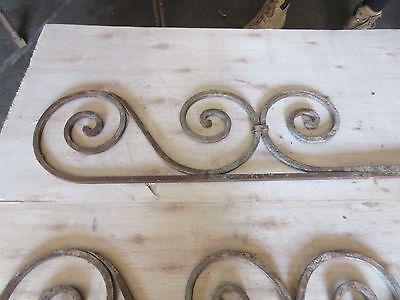 Antique Victorian Iron Gate Window Garden Fence Architectural Salvage #894 3