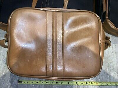 Vintage SCOVILL SUITCASE Tan Faux Leather (3) Piece Luggage 3