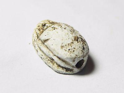 Zurqieh -Af516- Ancient Egypt , New Kingdom Stone Scarab. 1400 B.c