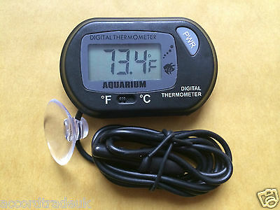LCD Digital Aquarium Fish Tank Vivarium Reptile / Fridge Freezer Thermometer UK