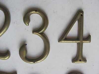 ONE Antique Vintage Solid Brass House Number Make Your Own Set - Many Available! 4