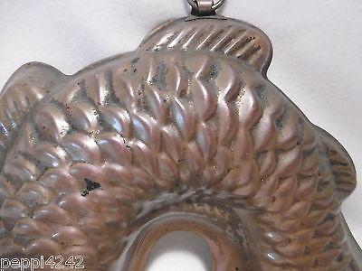 ++ Kupfer Backform  - Fisch  - gestempelt 22,5 x 20 cm  ++ 2