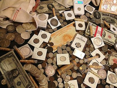 ✯Estate Sale Lot Old Us Coins✯Currency✯Pcgs Ngc✯Gold Silver Bullion✯50 Years+✯ 6