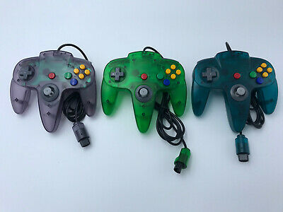 Choose Nintendo 64 Console Color + Up to 4 Controllers + Cords!  CLEANED N64! 12