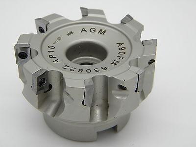 Messerkopf  63,0 für APKT 1003 incl 10 Fräsplatten für Alu APKT 1003 PDFR K10