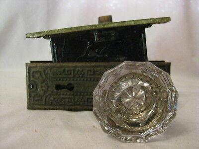 ornate antique door back plates 12 sided glass door knobs knob plate lock set