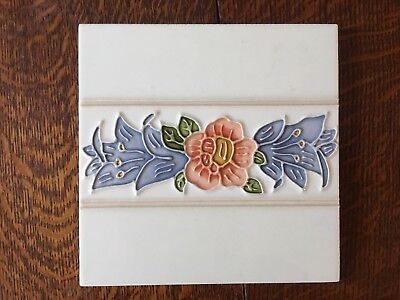 6 Tube-lined handpainted /& glazed fireplace set of luxurious-spacer tiles