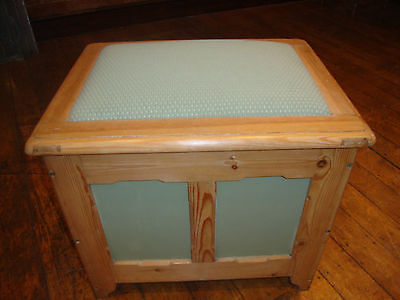 Antique pine and painted box seat 2