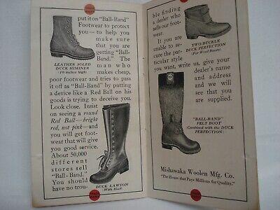 1930'S Ball Band Rubber Footwear Sales Catalog Booklet Mishawaka Woolen 5
