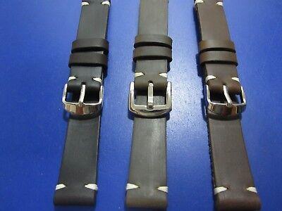 20mm-22mm Correa Reloj cuero Pulsera Leather Watch Band Strap 3