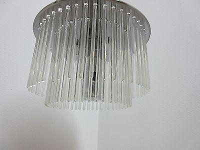 Vintage Mid Century Lightolier  Swizzle Sticks Hanging Light Chandelier Lamp 4