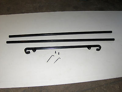 """38""""  A-Justa-Rail for in ground next to step Iron stair Railing step grab Steel 3"""